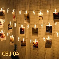 Dreamiracle String Lights, 40 LED Photo Clips 16.4ft Fairy L