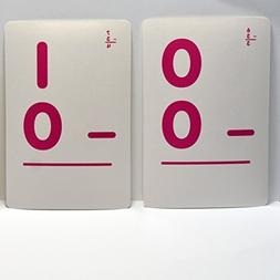Subtraction Flash Cards Double Sided - 36 Count