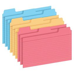 Tabbed Index Cards 4x6 Notecard Dividers with Organizing Tab