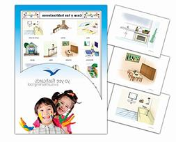Tarjetas de vocabulario - Rooms Flashcards in Spanish - Casa