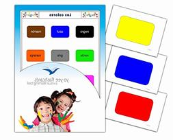 Tarjetas de vocabulario - Los colores - Color Flashcards in