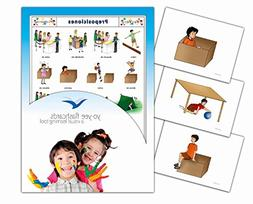 Tarjetas de vocabulario - Preposiciones - Prepositions Flash