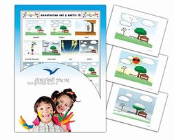 Tarjetas de vocabulario - Spanish Weather and Seasons Flashc