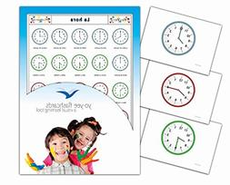 Tarjetas de vocabulario - La hora - Telling Time and Clock R