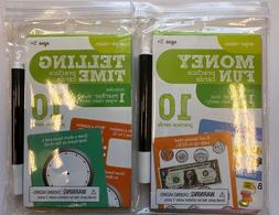 Telling time  and Money practice cards teacher supply home s