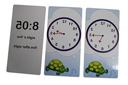 Telling Time Flash Cards - Quiz - Learn about Clocks - Early