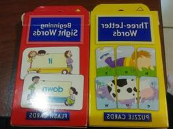 School Zone Three Letter Words Flash Puzzle Cards Game Begin