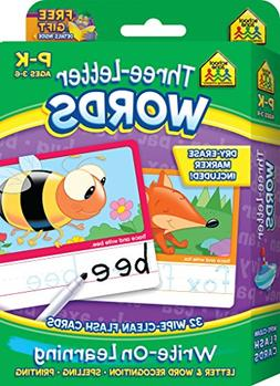 Three-Letter Words Wipe Clean Flash Cards