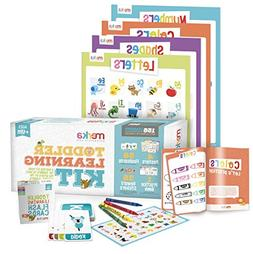 merka Toddler Learning Kit - Includes 4 Posters, 58 Flashcar
