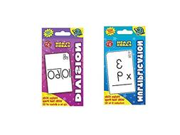 Two  Sets FLASH CARDS - Multiplication & Division - EARLY Le