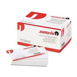 Universal - Unruled Index Cards, 4 x 6, White, 100/Pack 4722