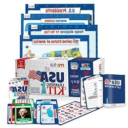 USA Learning Kit includes 4 Posters, 95 Flashcards, 58 Pract
