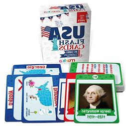 Kids USA Presidents and States Pocket Flash Cards - 95 cards