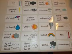 Weather flash cards.  Preschool and Pre Kindergarten learnin