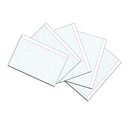 Pacon White Ruled Index Cards - 4x6 Inch