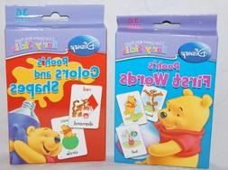 Set of 2 Winnie the Pooh Baby First Words & Colors & Shapes