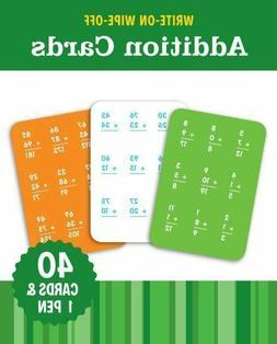 Write-On Wipe-off Addition Cards by Flash Kids 40 Cards 1 Pe