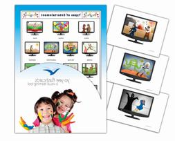 Yo-Yee Flashcards - Television Channel Flash Cards - English