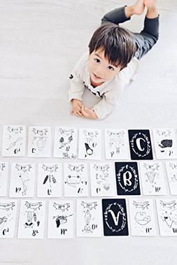 YOLO KIDZ ABC Cards with Bonus 1-10 Number Cards - A Set of